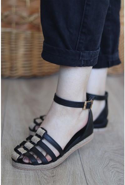 Mugo Serhatlar Kadın Hasır Detaylı Önü Kapalı Sandalet