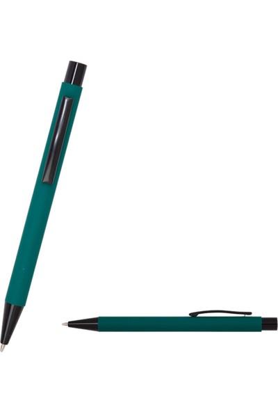 Hediyehanesi Kişiye Özel İsimli Not Defteri ve Kalem Seti Koyu Yeşil