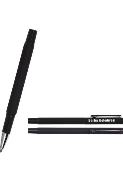 Hediyehanesi Kişiye Özel İsimli Not Defteri ve Kalem Seti Siyah