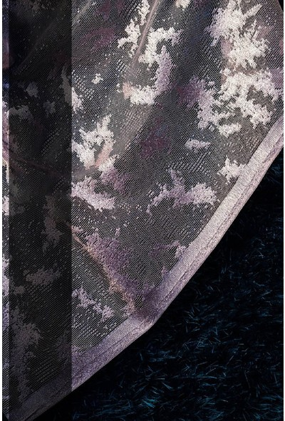 Evdepo Home Zambak Örme Tül Perde 1/3 Sık Pile Pile - Nohut Rengi 380 x 250 cm