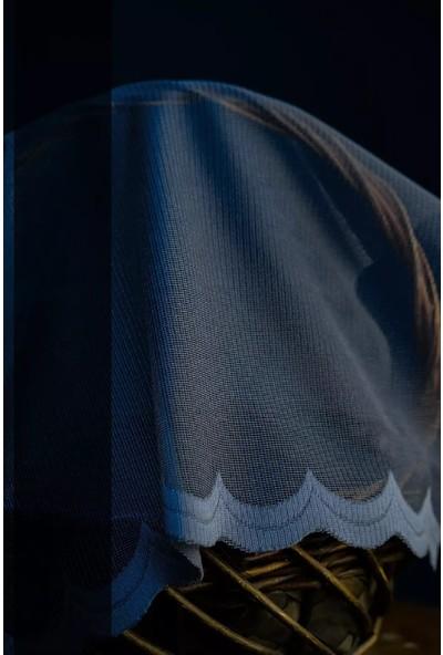 Evdepo Home Meltem Örme Tül Perde 1/3 Sık Pile Pile - Ekru 250 x 200 cm
