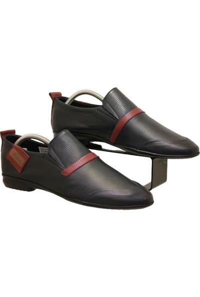 James Franco 812 Erkek Rok Deri Çok Yumuşak Ayakkabı Lacivert