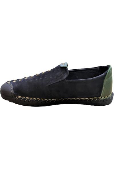 James Franco 4622 Erkek Hafif Yazlık Ayakkabı Siyah Yeşil