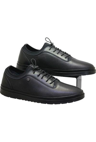 James Franco 5483 Erkek Streçli Ayakkabı Siyah