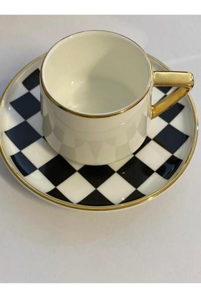 Winterbach Wınterbanh Damalı 6 Lı Kahve Fincan Takımı Kahve Fincanı 1521