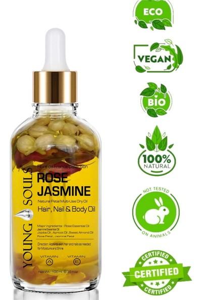 Young Souls Aromaterapi Rose Jasmine Gül Yasemin Multi-Use Dry Oil Kuru Yağ 100 ml