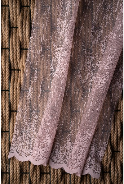 Evdepo Home Örme Tül Perde 1/2 Seyrek Pile - Ekru 370 x 260 cm