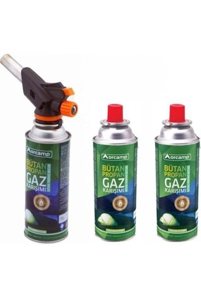 Orcamp Orgaz CX-500-227 Çakmaklı Pürmüz 3'lü Gaz Kartuşu