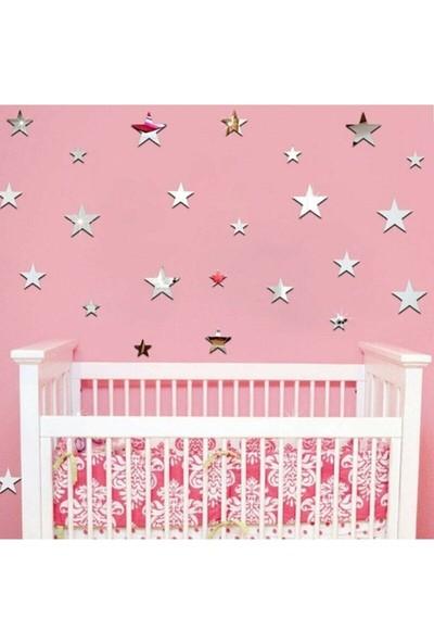 3A Lazer Pleksi Aynalı Duvar Yıldızları