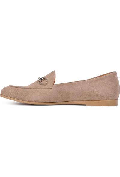 Park Fancy Vizon Nubuk Kadın Günlük Ayakkabı