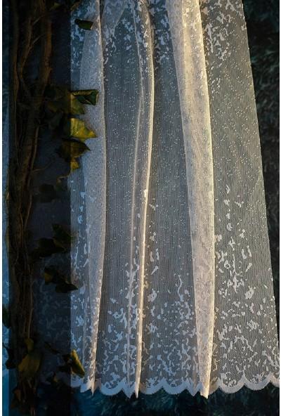 Evdepo Home Nilüfer Örme Tül Perde 1/3 Sık Pile Pile - Ekru 310 x 270 cm