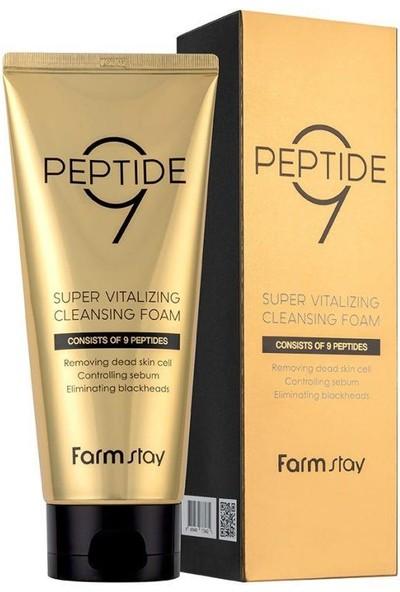 Farmstay Peptide9 Super Vitalizing Cleansing Foam