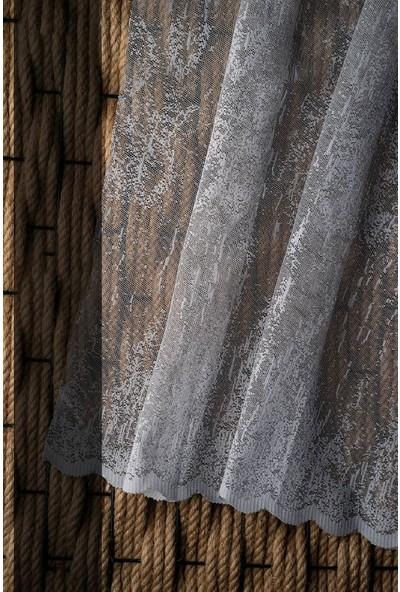 Evdepo Home Örme Tül Perde 1/2,5 Normal Pile - Ekru 370 x 250 cm