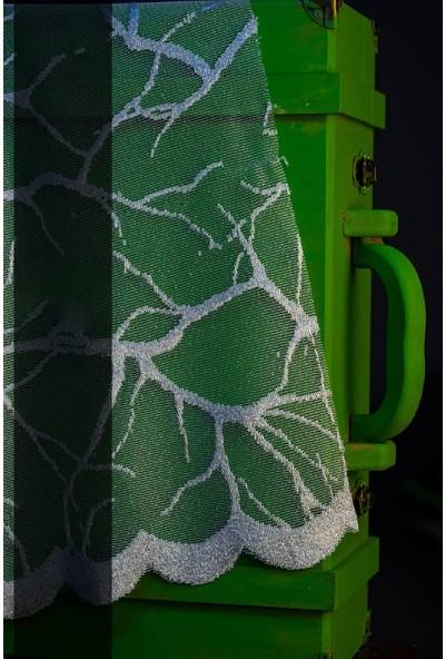 Evdepo Home Agena Örme Tül Perde 1/3 Sık Pile Pile - Ekru 270 x 260 cm