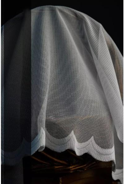 Evdepo Home Meltem Örme Tül Perde 1/3 Sık Pile Pile - Ekru 320 x 200 cm