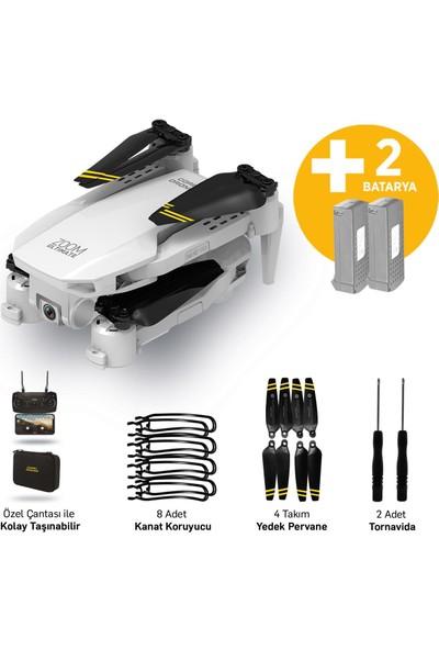Corby CX017 Wifi Çift Kameralı Katlanabilir 1080P Drone + 2 Bataryalı Set