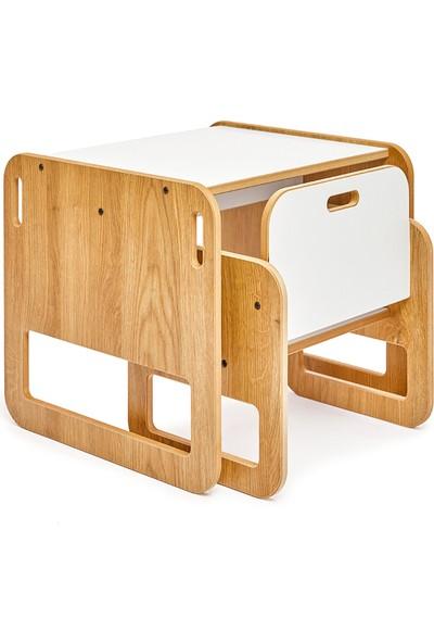 Minera 0-18 Ay Serçe Ahşap Montessori Çocuk Oyun, Çalışma ve Aktivite Masası ve Sandalyesi