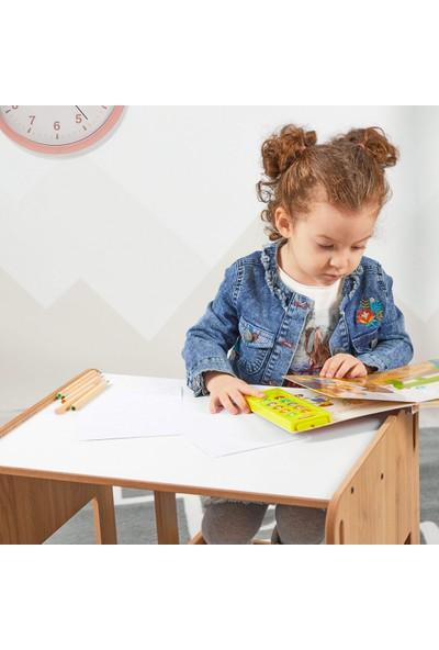 Minera 2-4 Yaş Kumru Ahşap Montessori Çocuk Oyun, Çalışma ve Aktivite Masası ve Sandalyesi Seti
