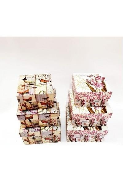 Effal Shop 3'lü Küçük Kare Set Kutu Hediyelik Kutusu