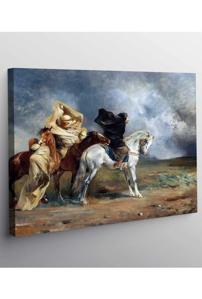 Tablopro Eugene Fromentin Kum Fırtınası Kanvas Tablo Ev Oda Dekorasyon