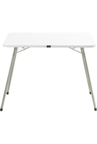 Byeren Piknik Seti - 4 Adet Ağaç Kollu Kamp Sandalyesi Yeşil - 60 x 80 cm Masa Beyaz