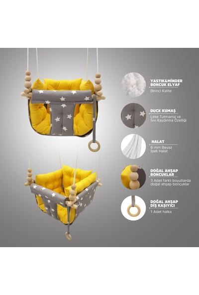 Özlem Eylem Kurt Astariaart Gri Yıldız Sarı Kombin Puffy Swing