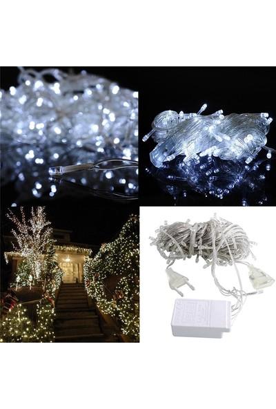 Kral Ticaret 100 Ledli 8 Fonksiyonlu 10 Metre LED Aydınlatma Dekor Lambası (Beyaz)