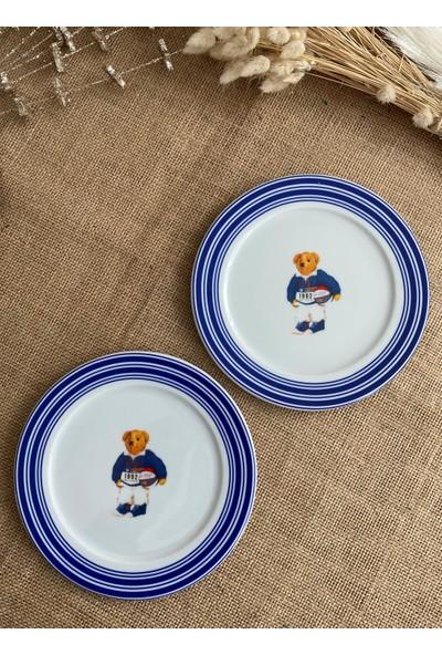 Mizar Design Marina Mavi Pasta Tabağı 6'lı Set