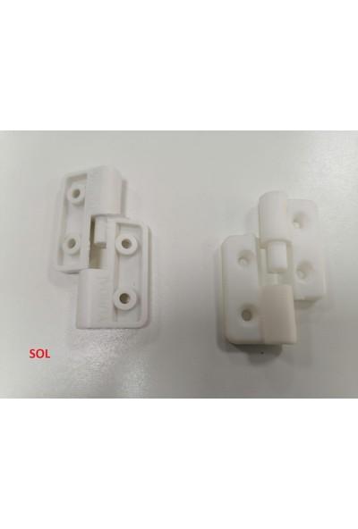 Yurdal Kombi Dolap Menteşesi ve Pano Menteşe Plastik Beyaz Sol (2 Adet)