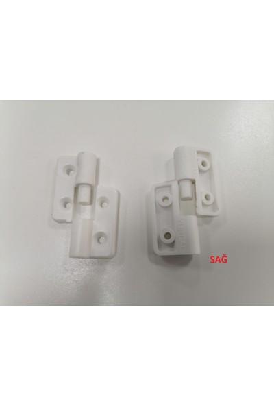 Yurdal Kombi Dolap Menteşesi ve Pano Menteşe Plastik Beyaz Sağ (2 Adet)