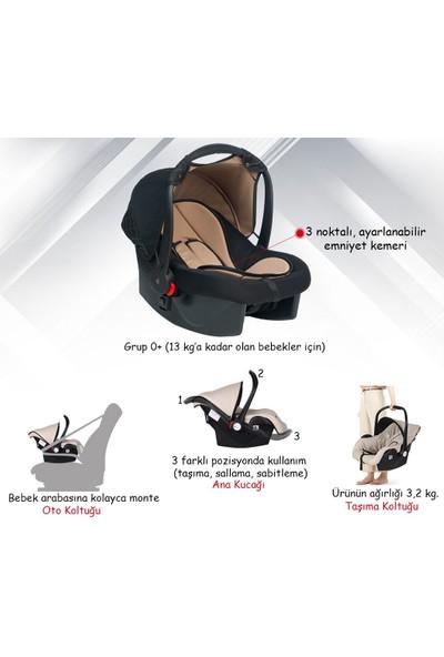 Joell New Truva III Travel Sistem Bebek Arabası - Gold Siyah