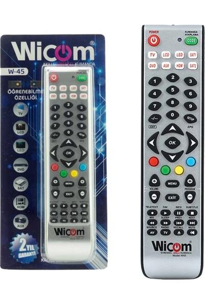 Wicom Ka Wicom W45-V4 Öğrenebilen Akıllı Kumanda 8in1 Unıversal Tüm Modeller Blisterli
