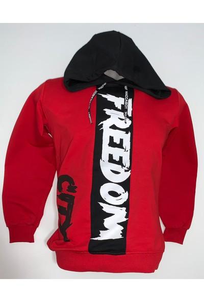 Maccaboy Erkek Çocuk Freedom Baskılı Sweatshirt