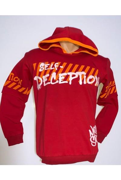 Maccaboy Erkek Çocuk Deception Baskılı Sweatshirt Kapüşonlu