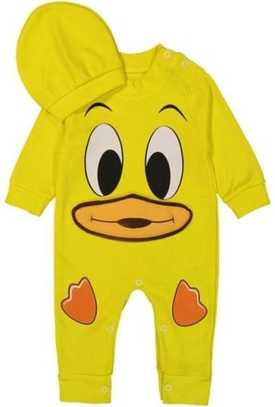 Güneş Bebe Duck Ördekli Şapkalı Tulum