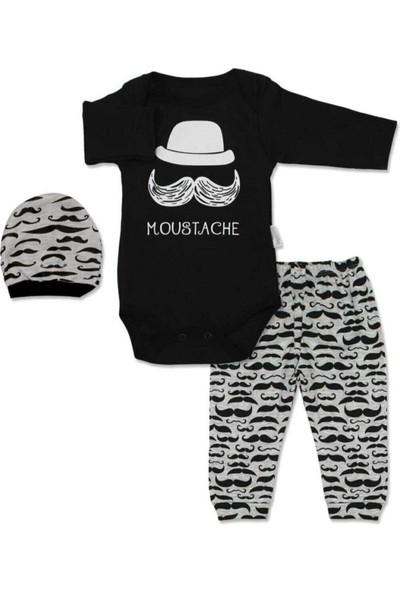Güneş Bebe Moustache Zıbın Takım
