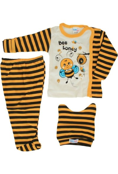 Güneş Bebe Honey Arılı 3'lü Zıbın Takım