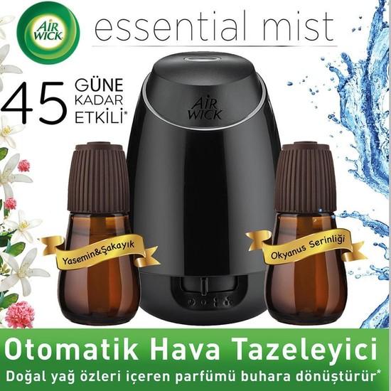Air Wick Essential Mist Hava Tazeleyici Kit Yasemin+Okyanus Yedek