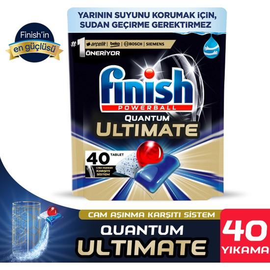 Finish Quantum Ultimate 40 Kapsül Bulaşık Makinesi Deterjanı Tableti