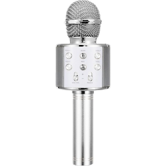 Karaoke Mikrofon Bluetooth Hoparlör Aux USB Mikro Sd Kart Girişli
