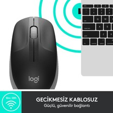 Logitech M190 Siyah Kablosuz Optik Mouse