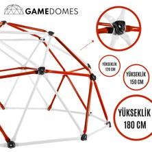 Game Domes Kırmızı Beyaz 150 Cm-Game Domes-Oyun ve Tırmanma Alanı-Bahçe Oyuncağı