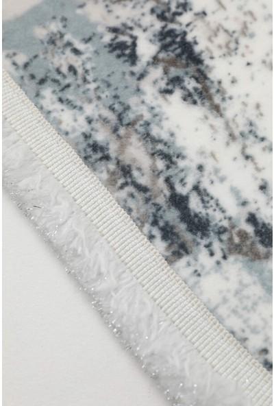 Akman 2'li Kaydırmaz Banyo Paspası - Ekru - Buz Mavi