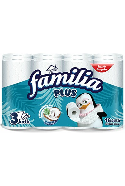 Familia Plus Coconut Özlü 3 Katlı Tuvalet Kağıdı 16'lı