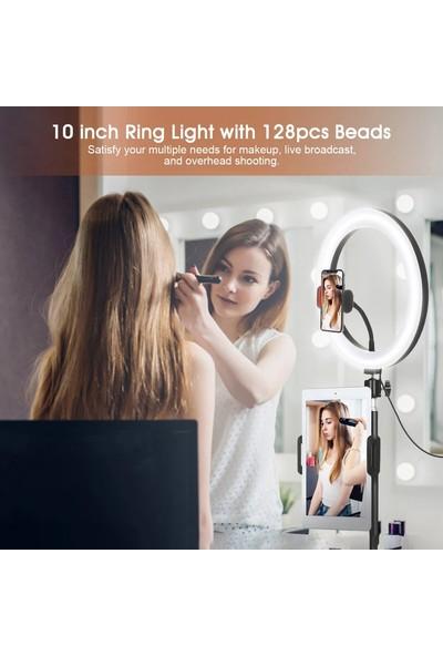 Elegiant Zarif 10 Inç Kendi Kendine Portre Işık USB Işık Video Kamera Çekim Güzellik Makyaj Tripod Standı Canlı Yayın Video Kamera Çekim Egl-06 (Yurt Dışından)