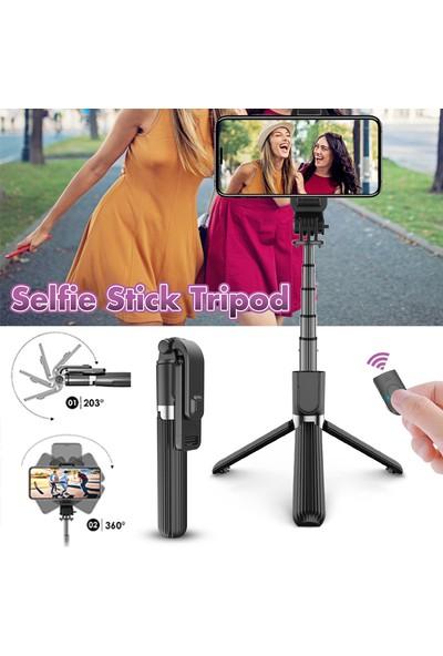 Elegiant Teleskopik Selfie Çubuğu Bluetooth Tripod Monopod Telefon Tutucu Uzaktan Kumanda (Yurt Dışından)
