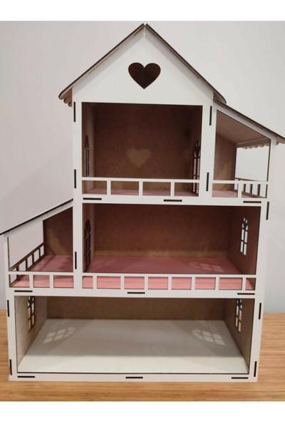 Diğerkam Ahşap Bebek Çocuk Oyun Evi Eğitici Evcilik Oyuncak Ev CCY00179