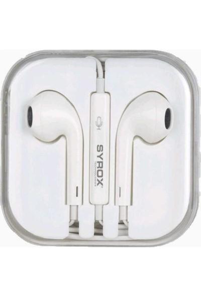 Syrox K12A 3.5 mm Jak Girişli Mikrofonlu Apple Iphone iphone Uyumluu Kulaklık