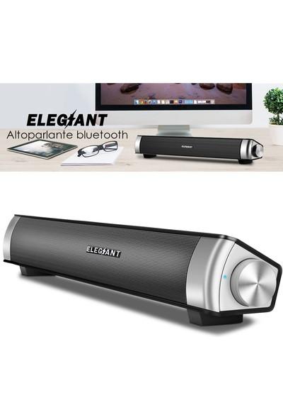 Elegıant USB Kablosuz Bluetooth Hoparlör Bilgisayar Için Stereo Ev Sineması Ses Çubuğu (Yurt Dışından)