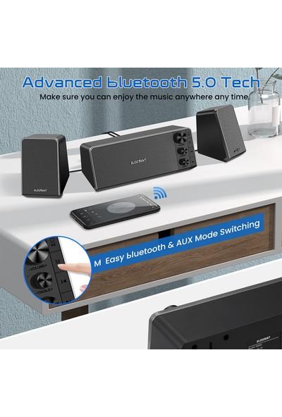 Elegiant 10W USB Multimedya Stereo Hoparlörler Masaüstü Dizüstü Bilgisayar Pc Hoparlörü Subwoofer (Yurt Dışından)